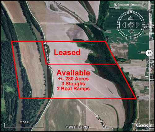 Duck Hunting Lease Aerial Photo Map Donaldson Farms